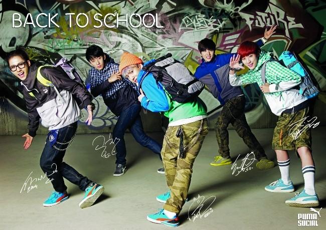 7c6b07276c5c ENDORSEMENT   Back to school  with  B1A4    PUMA  (Myungdong store ...
